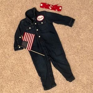 Rosie the Riveter Halloween Costume 18-24 months
